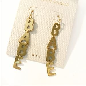 "NWT Anthropologie x Beth Ward ""BABE"" Earrings"